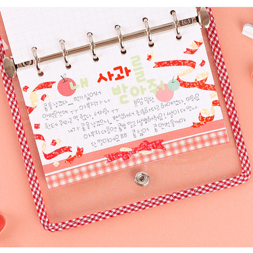 Grid - Wanna This Picnic check A7 6-ring dateless monthly planner