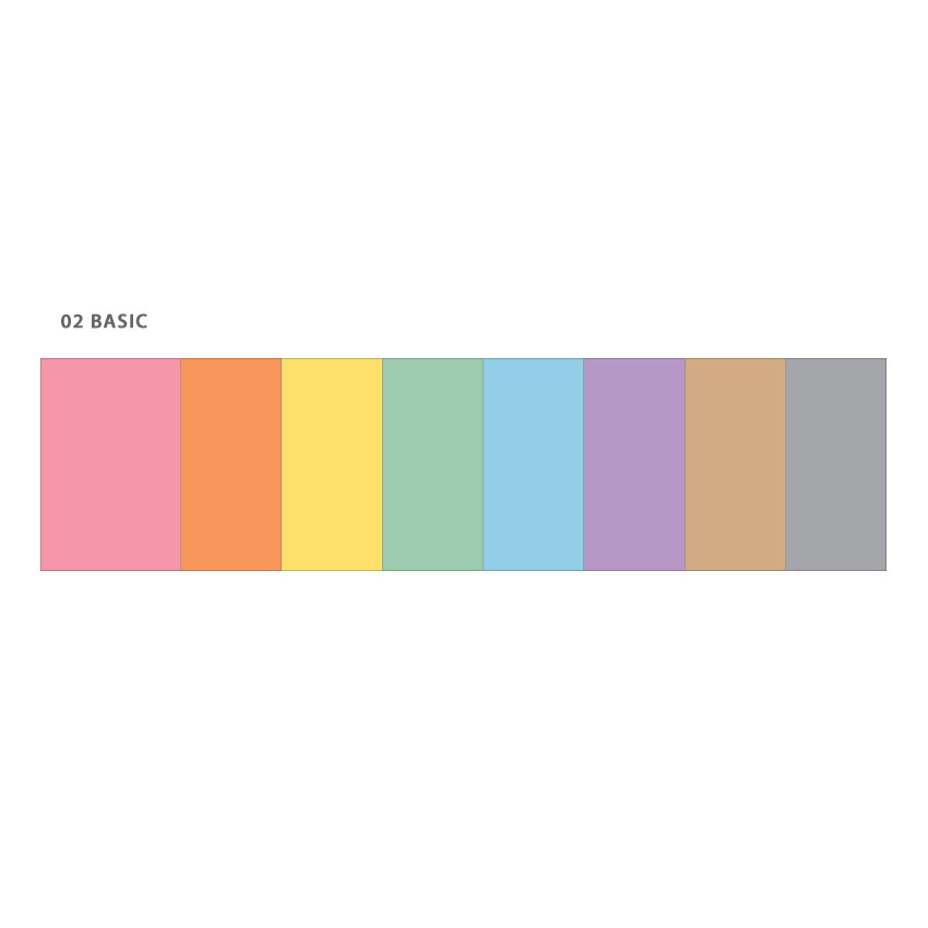 Basic - Wanna This Color blank paper A7 size 6 holes refills set