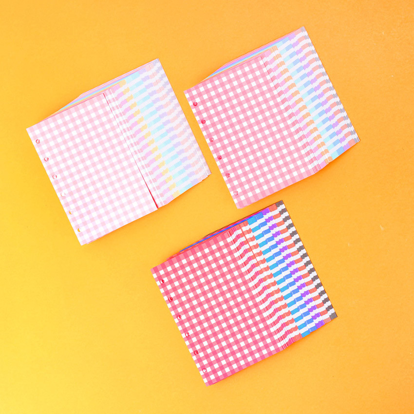 Wanna This Color blank paper A7 size 6 holes refills set