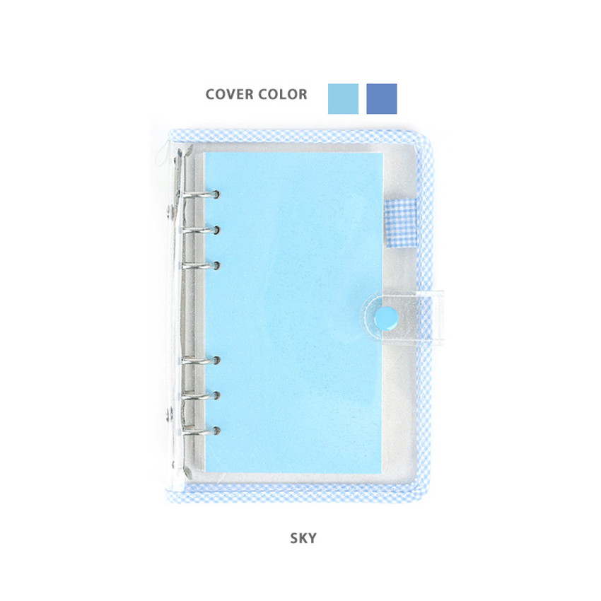 Sky - Wanna This Picnic check A6 6-ring dateless monthly planner