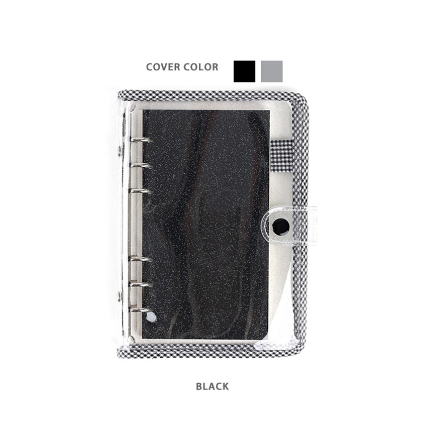 Black - Wanna This Picnic check A6 6-ring dateless monthly planner