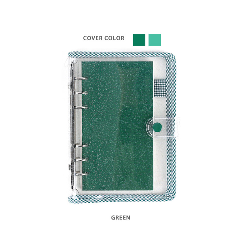 Green - Wanna This Picnic check A6 6-ring dateless monthly planner