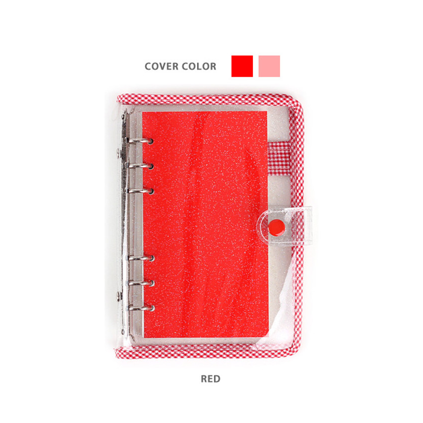 Red - Wanna This Picnic check A6 6-ring dateless monthly planner