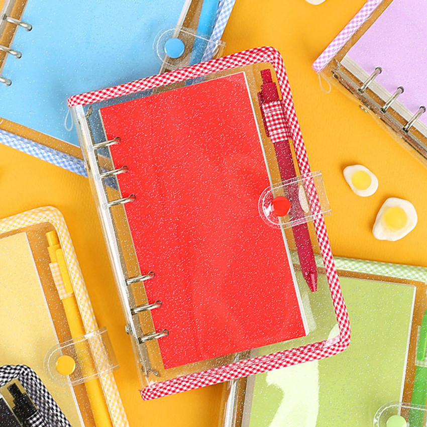 Wanna This Picnic check A6 6-ring dateless monthly planner