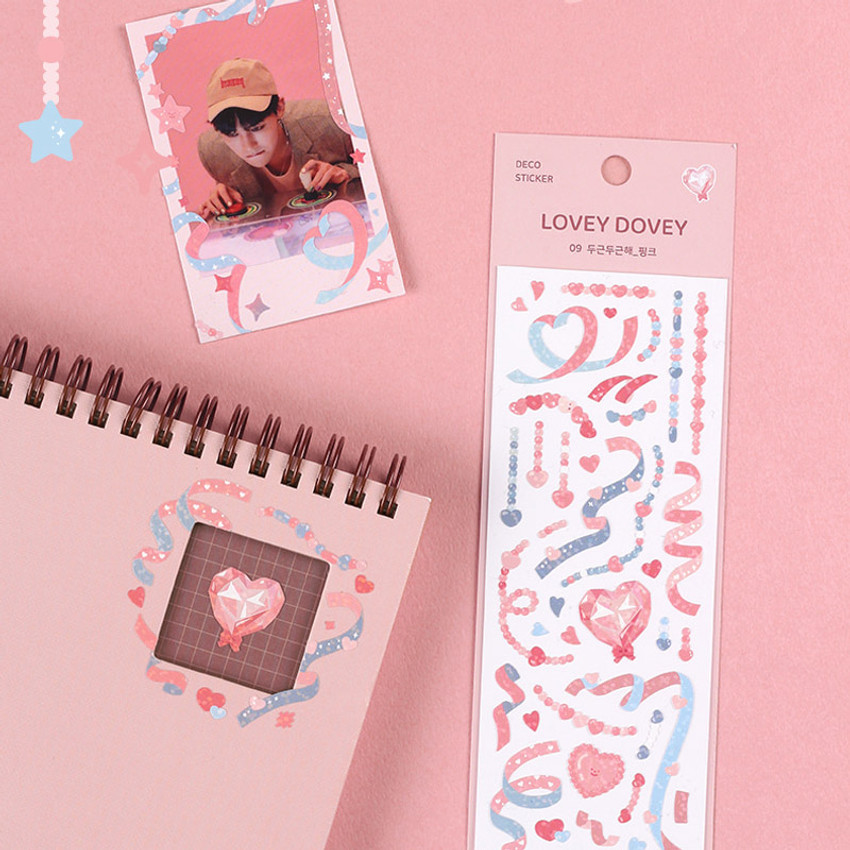 Usage example - Dash And Dot Lovey dovey hologram deco sticker seal 07-12