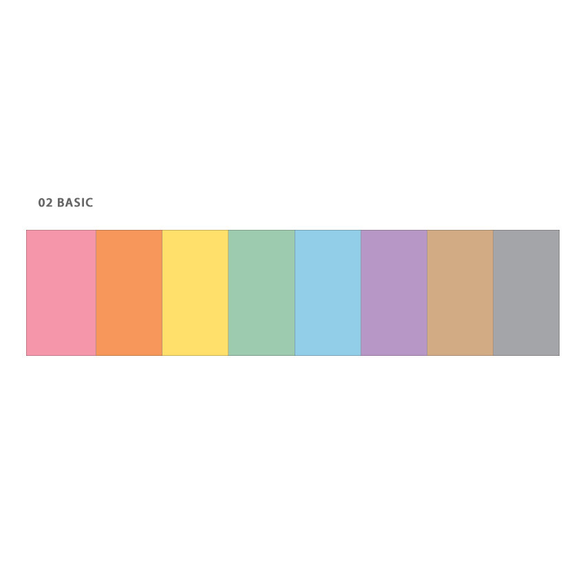 Basic - Wanna This Color blank paper A6 size 6 holes refills set