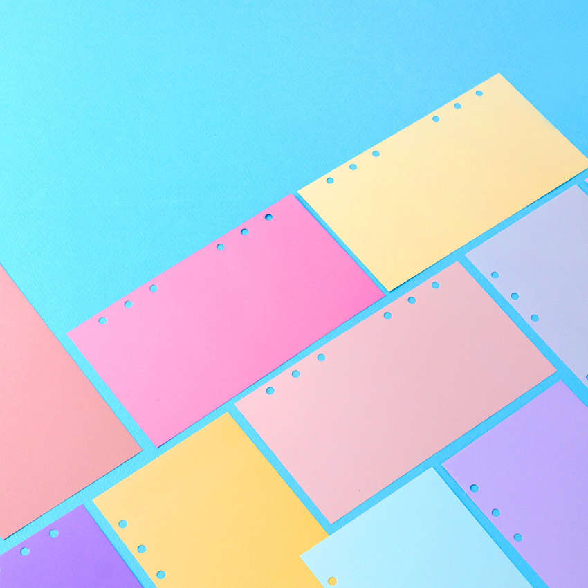 Wanna This Color blank paper A6 size 6 holes refills set