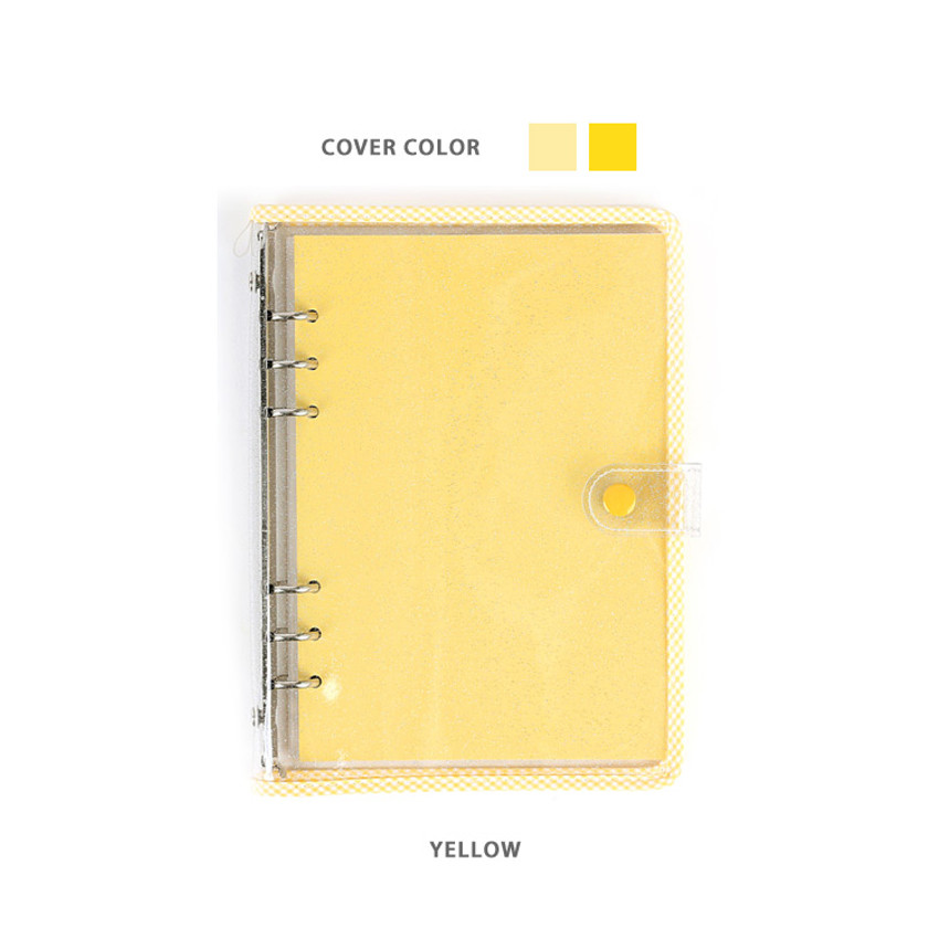Yellow - Wanna This Picnic check A5 6-ring dateless monthly planner