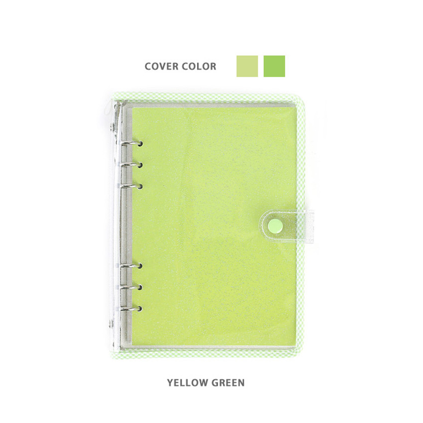 Yellow Green - Wanna This Picnic check A5 6-ring dateless monthly planner