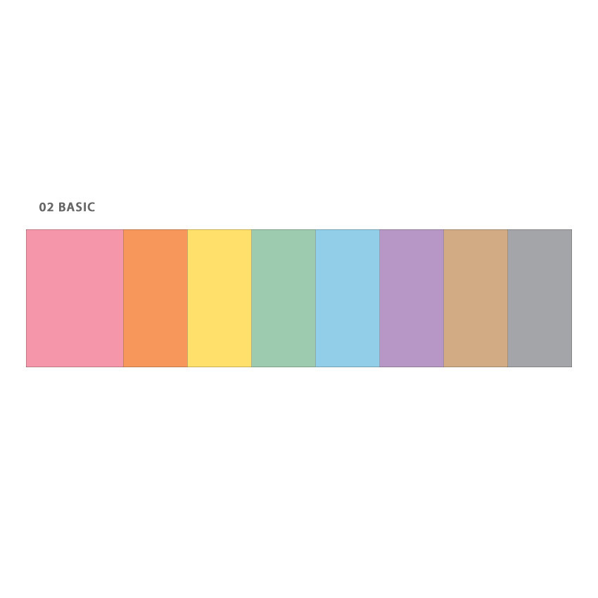 Basic - Wanna This Color blank paper A5 size 6 holes refills set