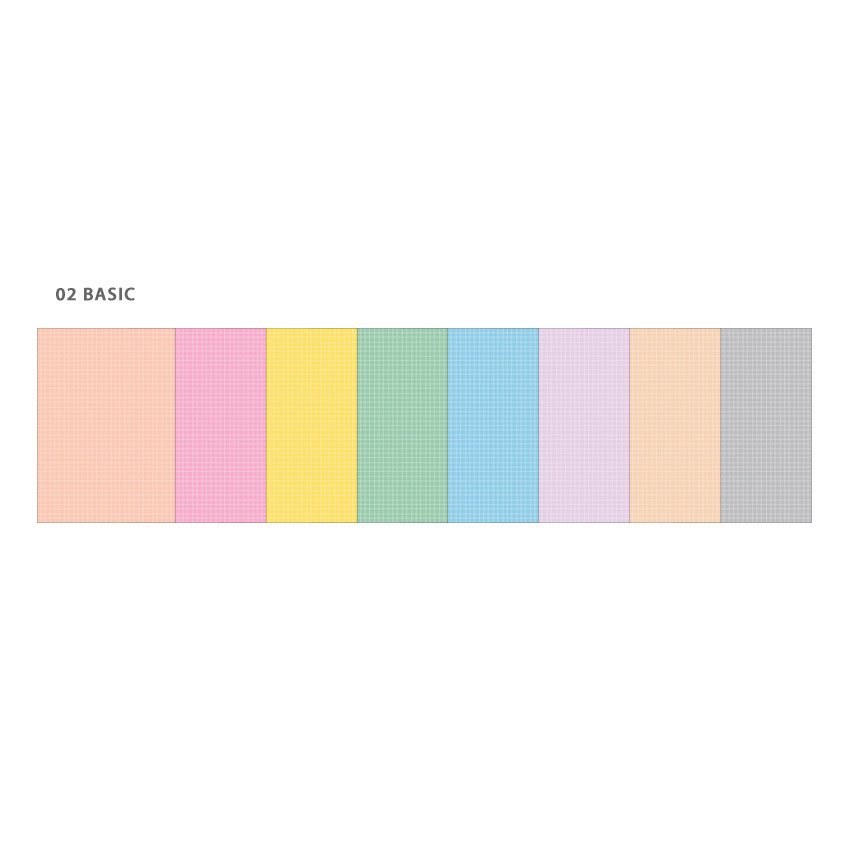 Basic - Wanna This Palette grid A5 size 6 holes paper refills set