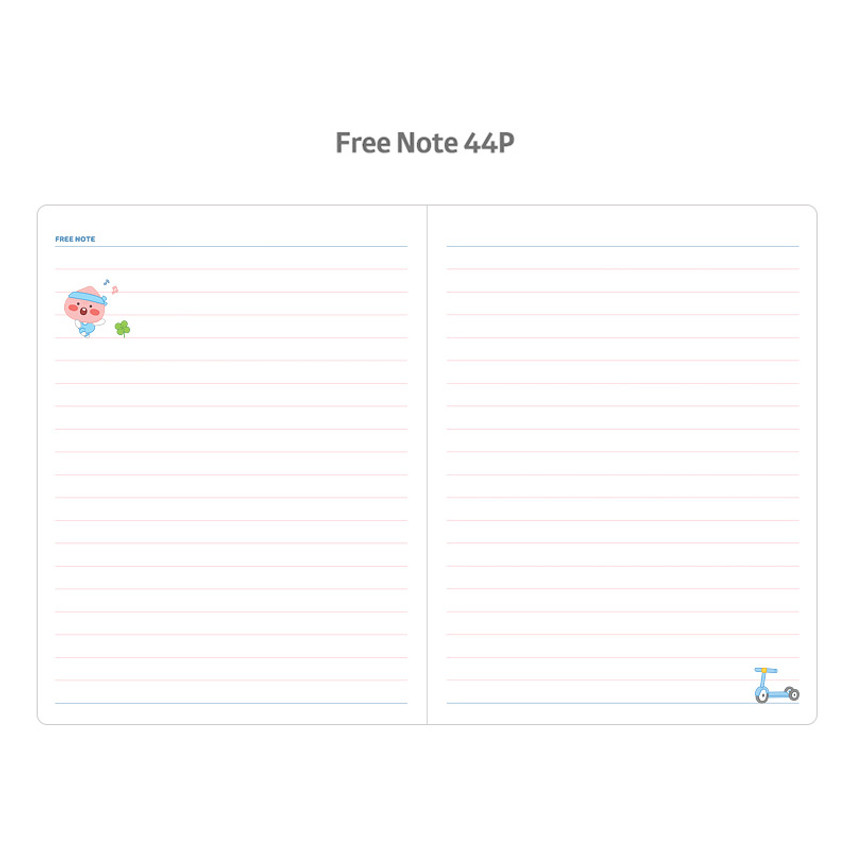 Free note - Kakao Friends 2021 Friends bookmark dated weekly diary