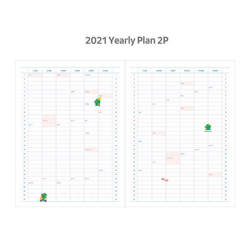 Yearly plan - Kakao Friends 2021 Friends bookmark dated weekly diary
