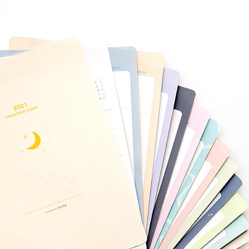 2021 Chou Chou A5 6 hole dated monthly plan paper refill set