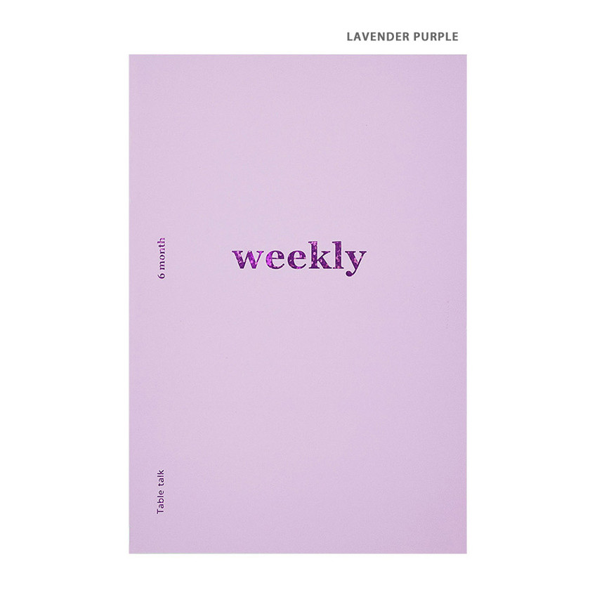 Lavender Purple - Better together A5 size 6 months dateless weekly planner