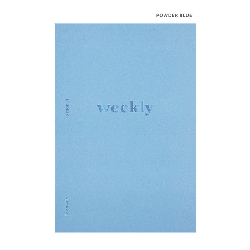 Powder blue - Better together A5 size 6 months dateless weekly planner