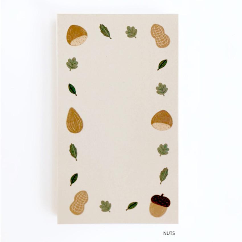 Nuts - O-CHECK Cute memo note writing pad