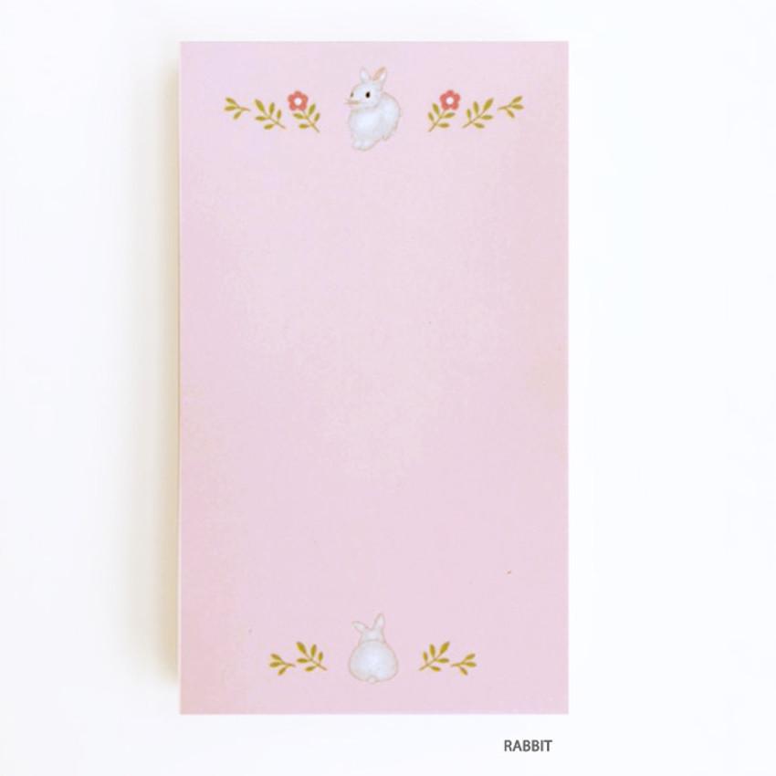 Rabbit - O-CHECK Cute memo note writing pad