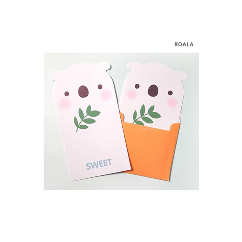 Koala - 2young Lovely animal friends letter and envelope set