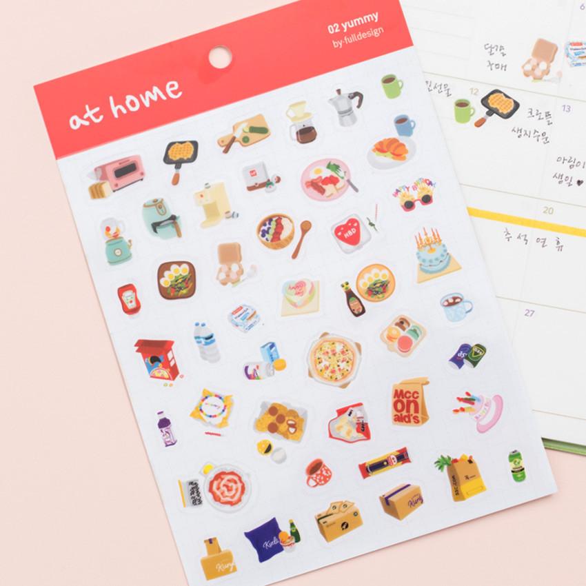 Yummy - Byfulldesign At home useful deco sticker sheet set