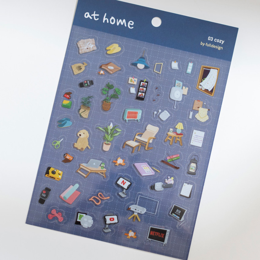 Cozy - Byfulldesign At home useful deco sticker sheet set