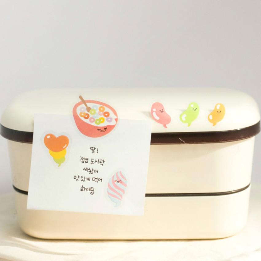 Sweet - Byfulldesign Bubbling balloon deco sticker sheet set