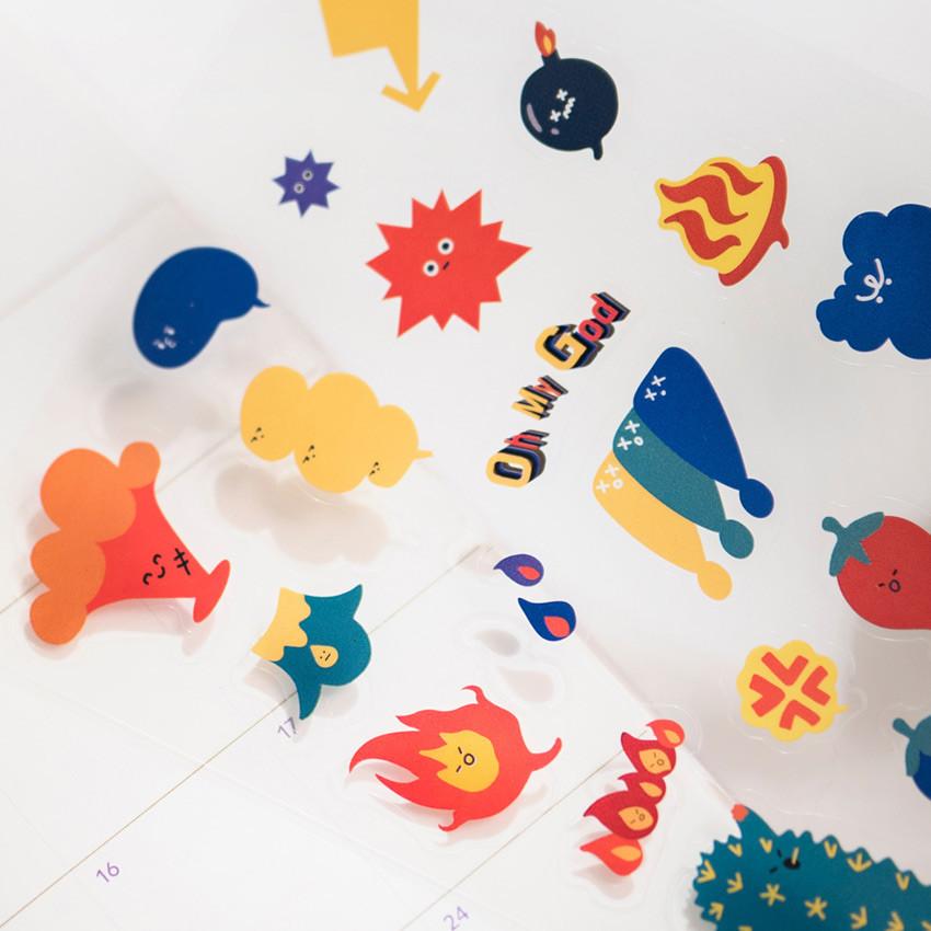 Spicy - Byfulldesign Bubbling balloon deco sticker sheet set