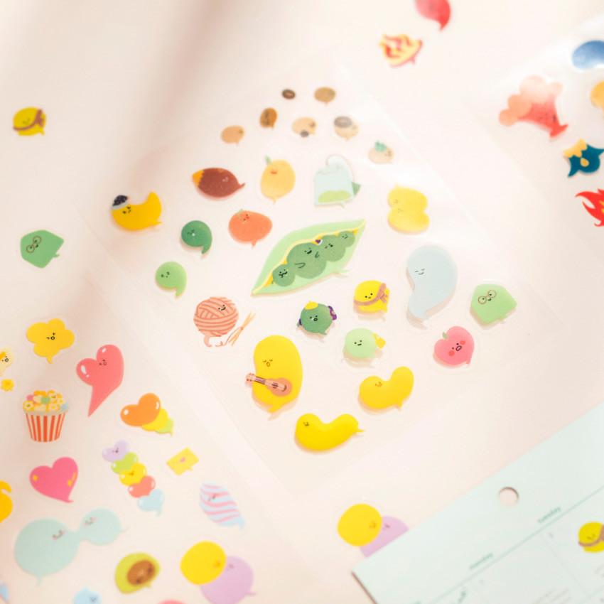 Byfulldesign Bubbling balloon deco sticker sheet set