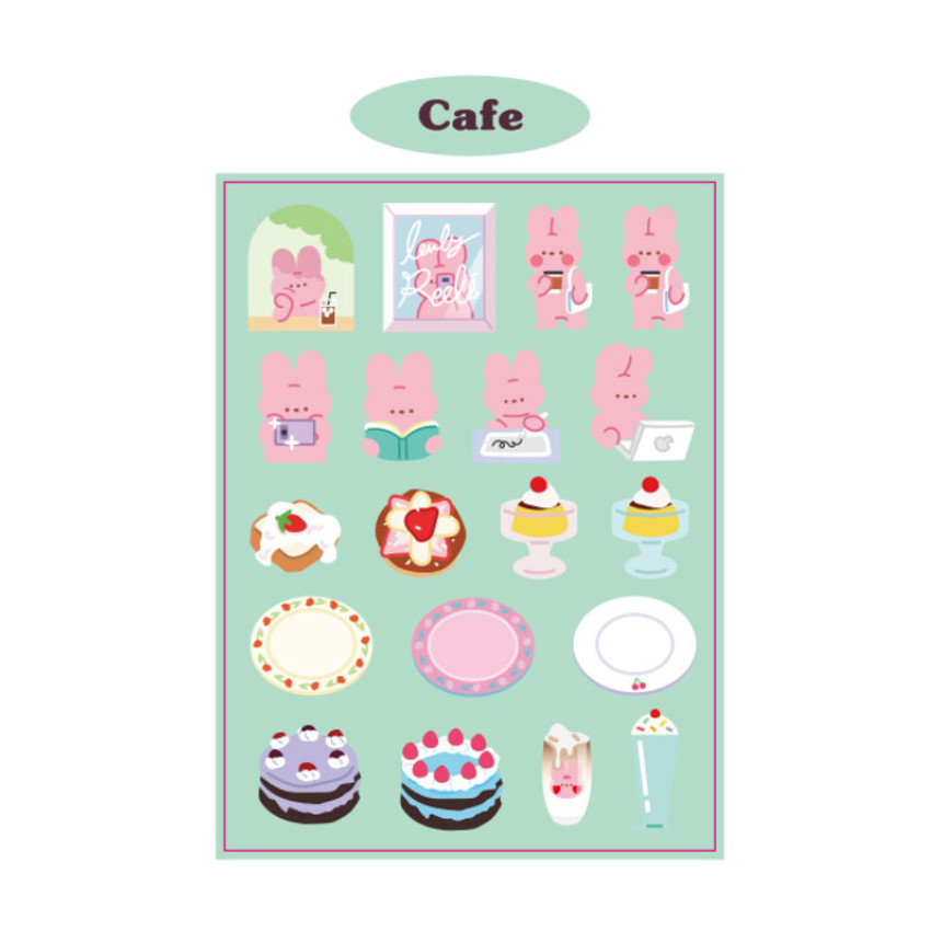 Cafe - DESIGN GOMGOM Reeli removable deco sticker ver2