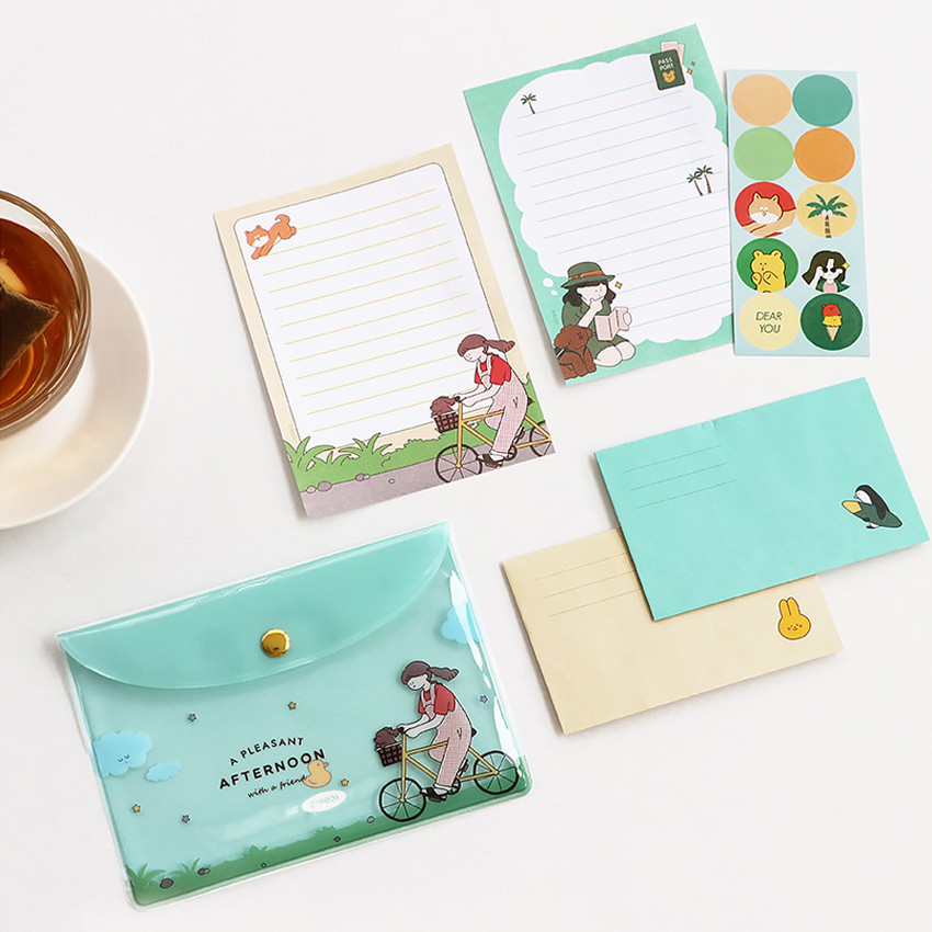 ICONIC Letter and envelope set with PVC pouch