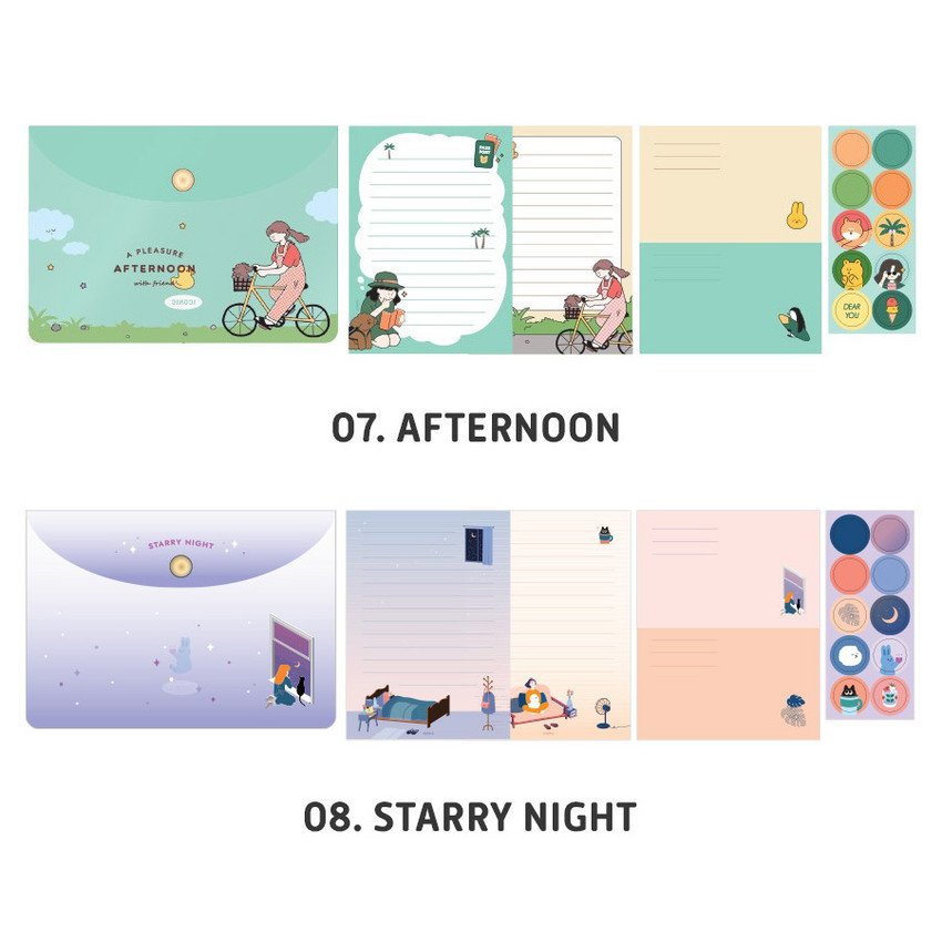 Afternoon, Starry night - ICONIC Letter and envelope set with PVC pouch
