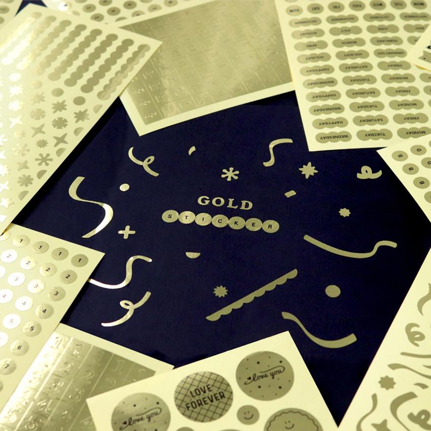 Indigo Gold shiny decoration adhesive sticker