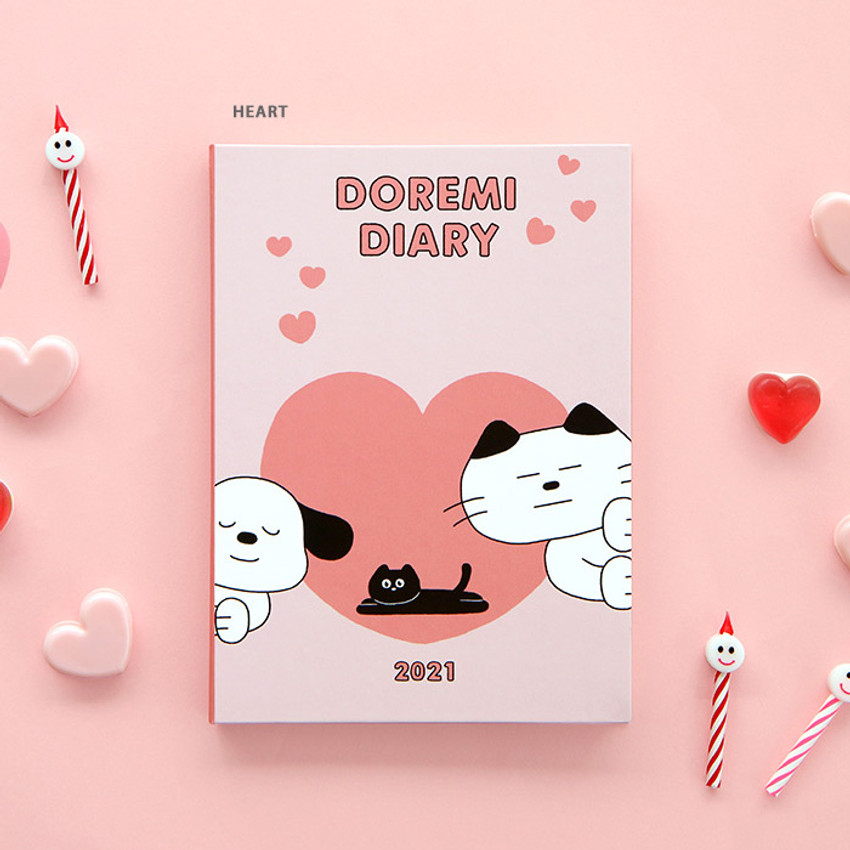 Heart - ICONIC 2021 Doremi dated weekly diary planner