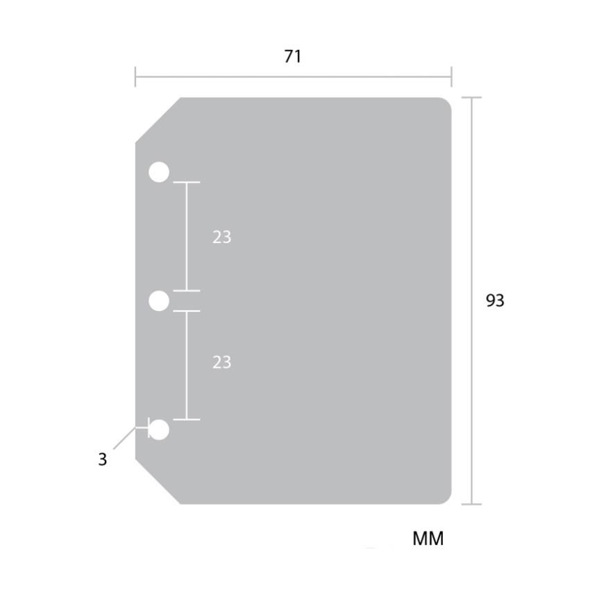 Inner sheet size - 2NUL Glitter 3 ring Instax mini slip in pocket photo album