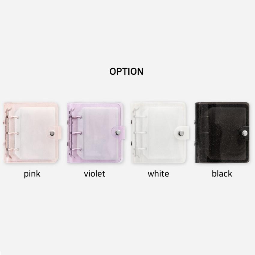 Color - 2NUL Glitter 3 ring Instax mini slip in pocket photo album