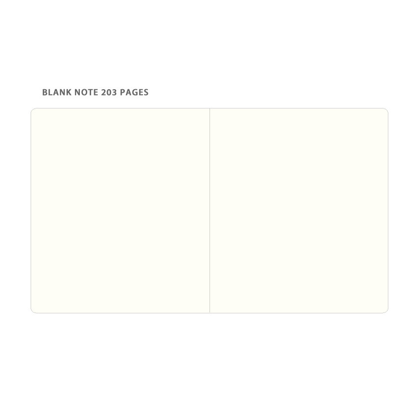Blank note - Byfulldesign Making memory small and wide blank notebook