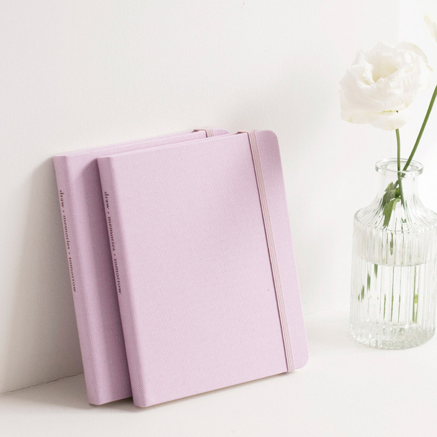 Pink Lavender - Byfulldesign Making memory small and wide blank notebook