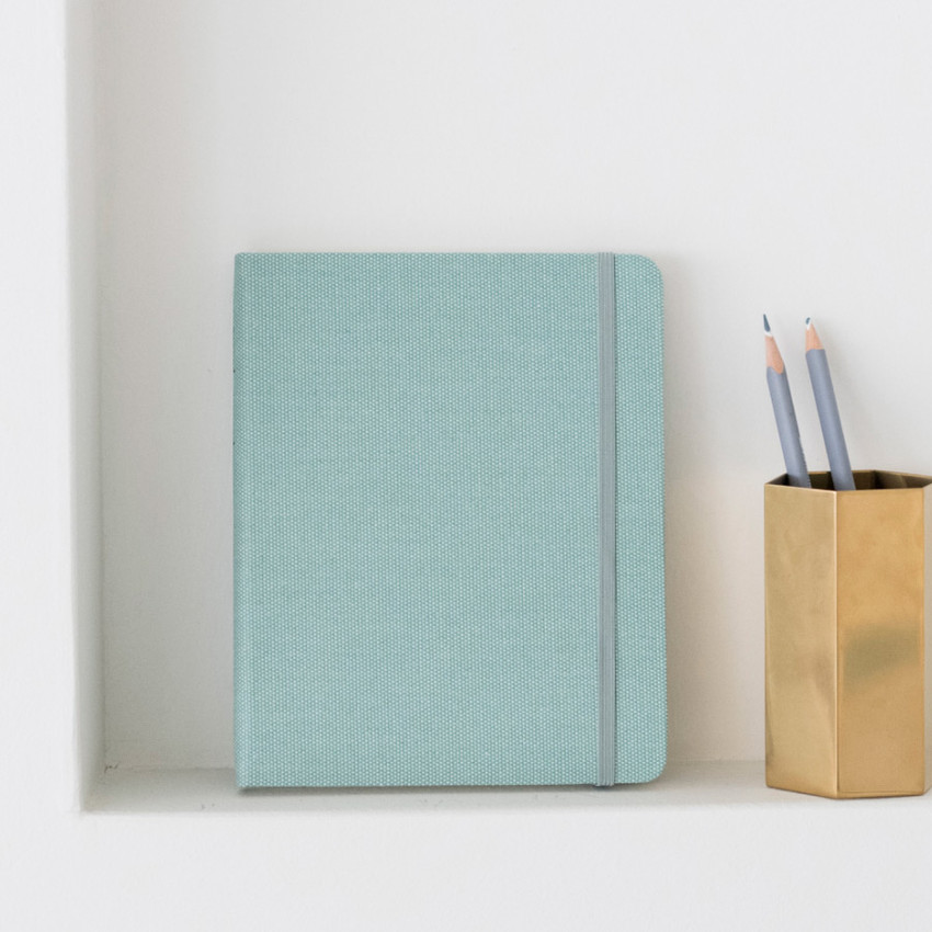 Emerald Mint - Byfulldesign Making memory small and wide blank notebook