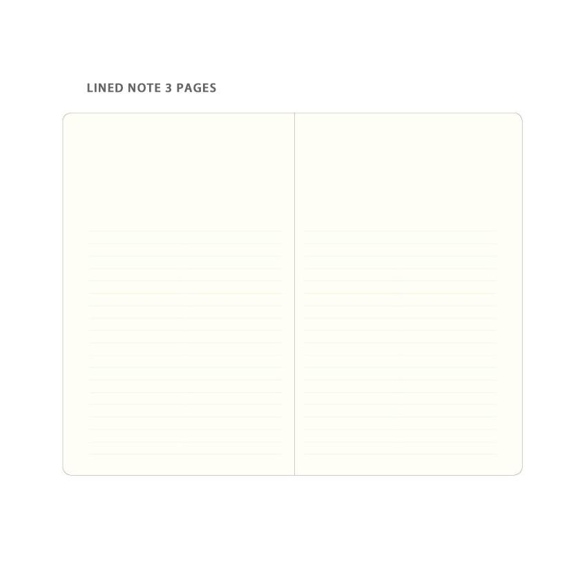 Line note - Byfulldesign Making memory medium blank notebook ver2
