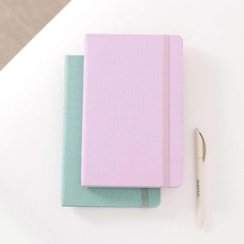 Pink Lavender, Emerald mint - Byfulldesign Making memory medium lined notebook ver2