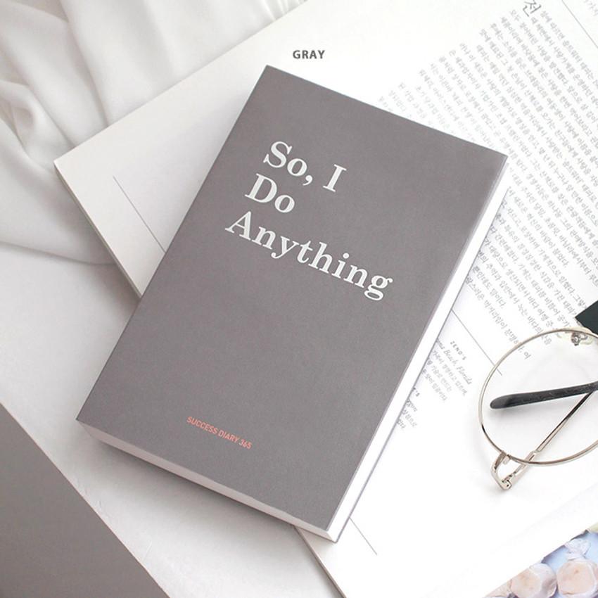 Gray - Indigo Success 365 dateless daily journal