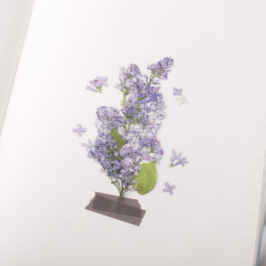 Appree Lilac pressed flower sticker