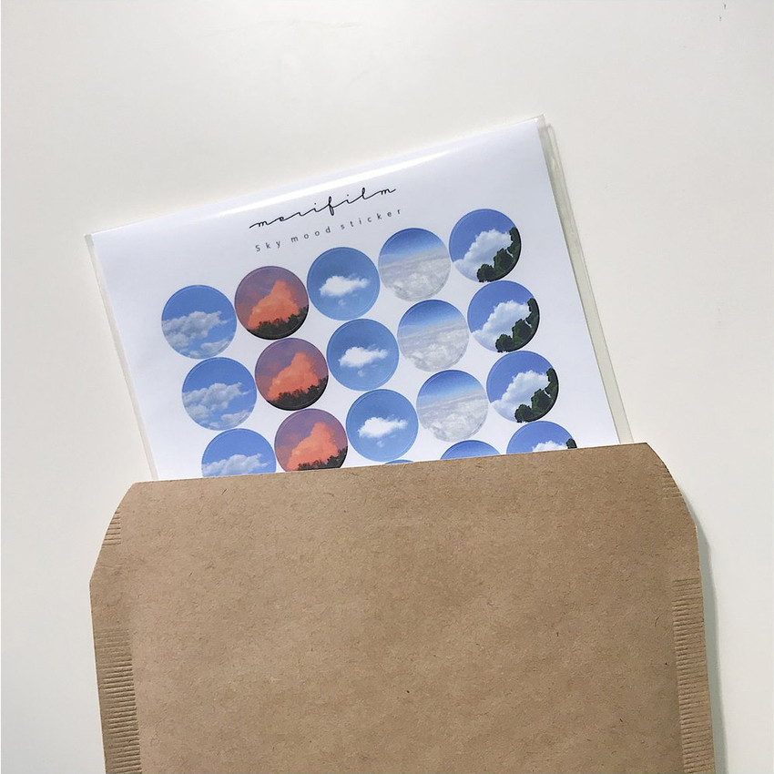 Package - Meri Film Sky and Cloud paper circle sticker