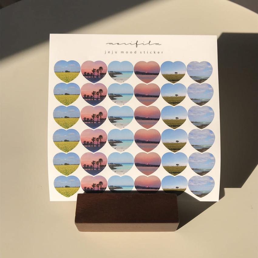 Meri Film Jeju mood paper heart sticker