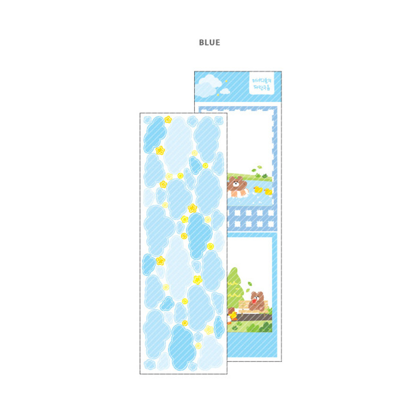 Blue - Wanna This Forest's cloud paper sticker