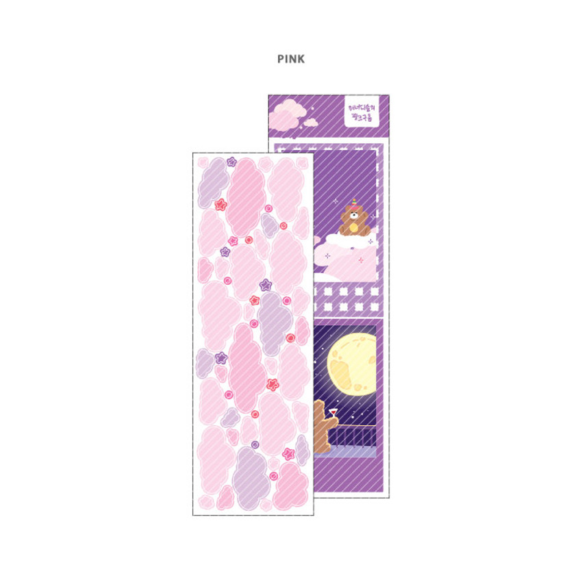 Pink - Wanna This Forest's cloud paper sticker