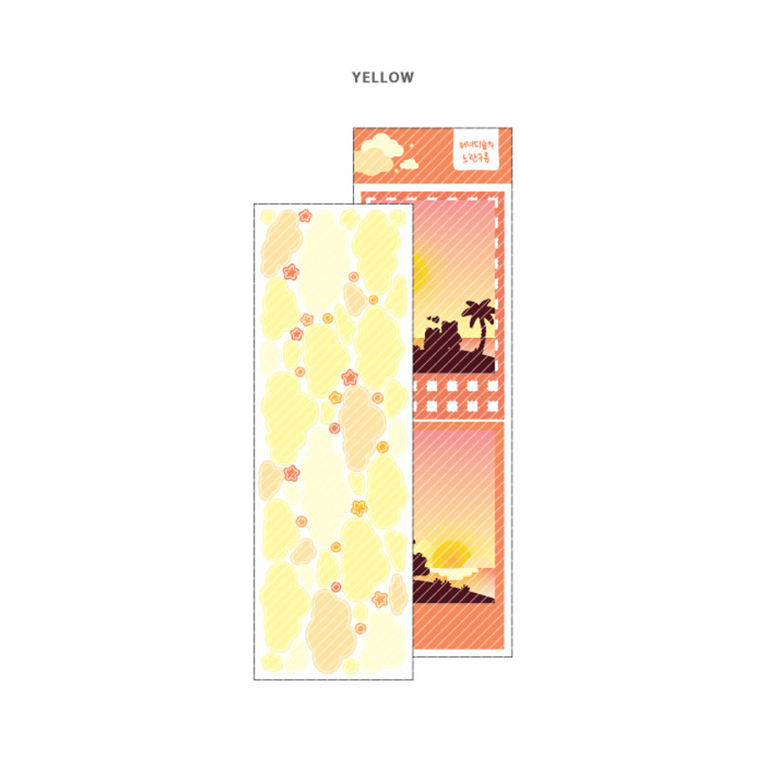 Yellow - Wanna This Forest's cloud paper sticker