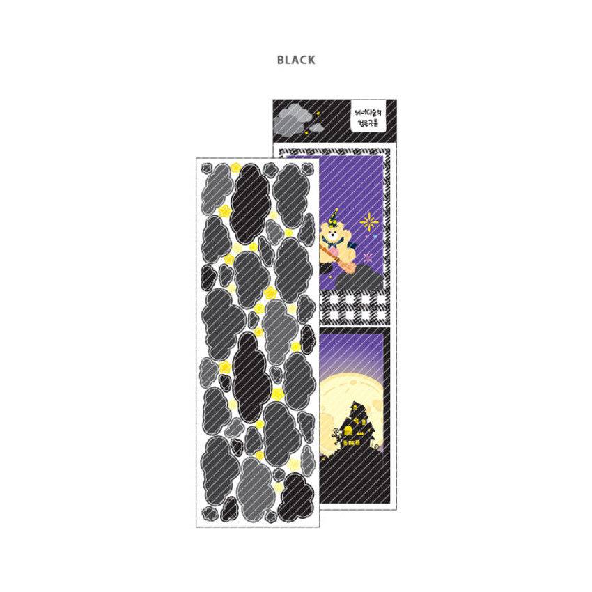Black - Wanna This Forest's cloud paper sticker