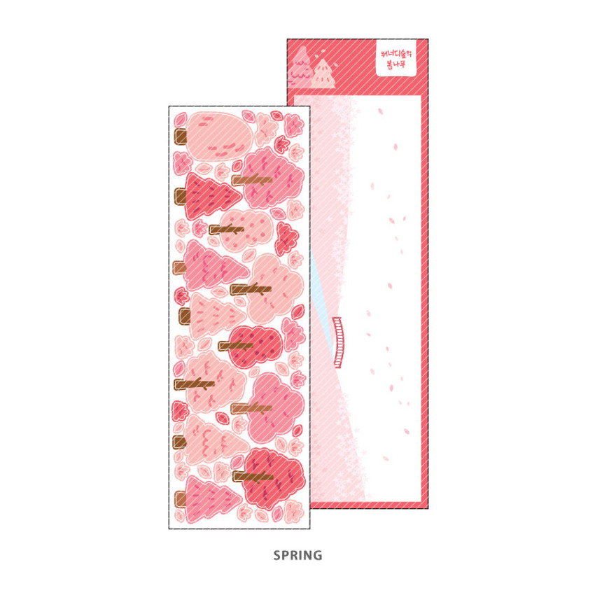 Spring - Wanna This Forest's tree paper sticker
