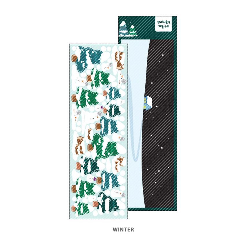 Winter - Wanna This Forest's tree paper sticker